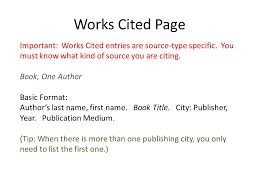 Mla Works Cited Page Basic Format Purdue Writing Lab