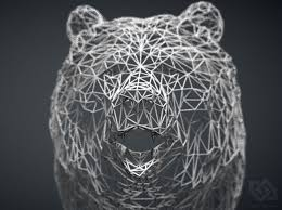 wire bear wall mount 3d printed