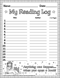 First Grade Reading Log Free Printable Reading Logs For Teachers And Parents For