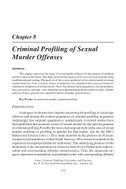 criminal profiling of sexual murder offenses springer criminal profiling criminal profiling