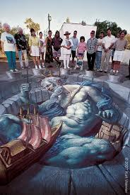 The Inventor And Master Of 3d Sidewalk Chalk Art Kurt
