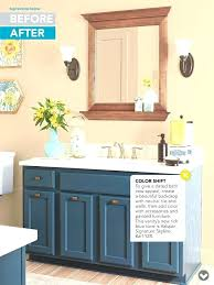 Painting bathroom vanity before and after Best Tips Before And After Bathroom Updates Painted Bathroom Vanity Easy Bathroom Updates Paint Bathroom Vanities Paint Bathroom Guimar Before And After Bathroom Updates Painted Bathroom Vanity Easy