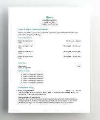 Reverse Chronological Resume Template Hudson