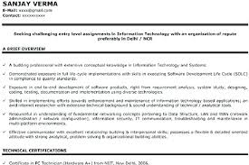 Information Technology Cover Letter Examples Entry Level