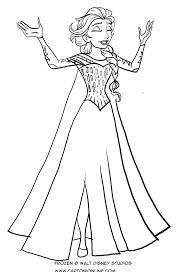 Disegno Da Colorare Di Elsa Che Canta Frozen Il Regno Di Ghiaccio