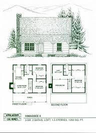 Log Houseplans  Home Design GHD1036  96994 Bedroom Log Cabin Floor Plans