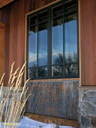 rustic corrugated metal with special patina by bridger steel like the look of using corrugated tine