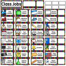 Classroom Jobs Chart Classroom Job Chart