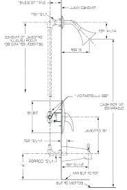 shower control height plumbing rough in heights bathroom sink vanity drain from floor ada tub s