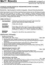 Sample Technical Resume Impressive Sample Technical Resume Technical Support Specialist