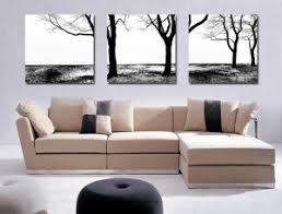 3 piece canvas wall art black and white