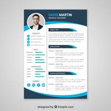 free cv template download with photo cv template vectors photos and psd files free download