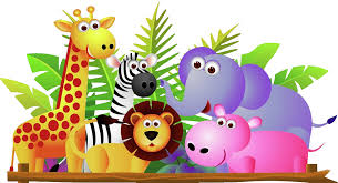zoo animals together clipart. Beautiful Clipart Banner Giraffe Lion Zebra And Elephant Jungle Cartoon In Zoo Animals Together Clipart P