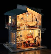 aliexpresscom buy 112 diy miniature doll house. Diy Led Light Quotcradle On The Beachquot Deluxe House Dollhouse Aliexpresscom Buy 112 Diy Miniature Doll House E