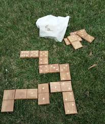 Wooden Lawn Games Yard Dominoes Wood Dominoes Domino Game by MMMMakerDesign on 37