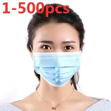 3-Ply Disposable Face Mask Dust Mask Face Masks with Elastic Ear ...