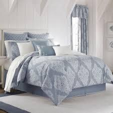 ansonia damask comforter set denim