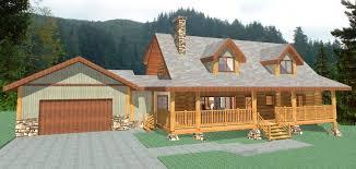 2174 sq ft log home plans