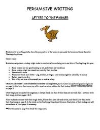 writing persuasive letter to the farmer from the turkey thanksgiving writing persuasive letter to the farmer from the turkey
