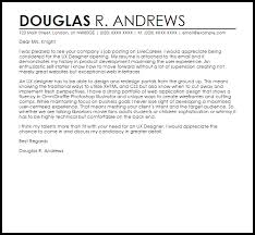 Cover Letter For Cvs Simple UX Designer Cover Letter Sample Cover Letter Templates Examples