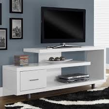 white modern tv stand  fits up to inch flat screen tv  flat