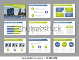 set blue green template multipurpose presentation stock vector 466673270 shutterstock