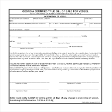 Boat Bill Of Sale Best Georgia Boat Trailer Bill Of Sale Form Seven Stereotypes
