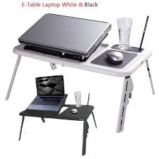 e table portable foldable laptop notebook table cooler cooling fan