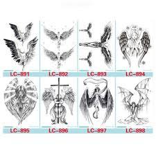 Dočasné Tetování Samolepky Nepromokavý Anděl Plné Květinové Rameno Tělo Umění