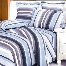 blue purple stripes 100 cotton 3pc duvet cover set twin size