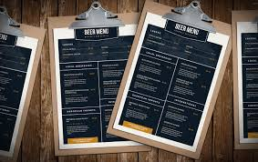 Free Beer Menu Template For Photoshop Illustrator Brandpacks