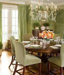 green dining room by meg braff don t love the chairs but the wall treatment is incredible