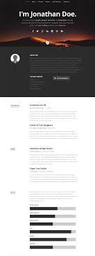 Template Cv Portfolio Responsive Resume Website Templates And Themes