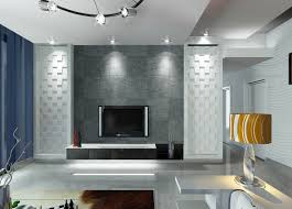 wall lighting living room. Luxury Living Room Decoration With Wall Mounted Tv Stand, Gray Decorative Painted, And Lighting O