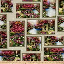 zoom thomas kinkade studio the garden prayer allover patch multi