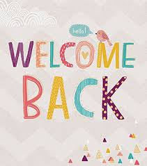Welcome Back Graphics Welcome Back Card
