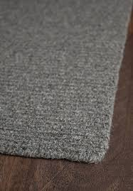 natural wool loom hooked rug solid grey 4