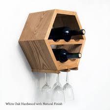 unique hexagon wine rack hanging