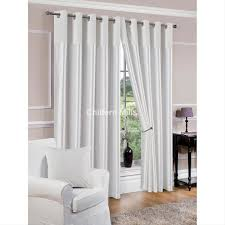derwent faux silk fully lined white eyelet curtains