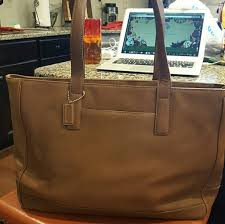 Coach Large Brown Legacy Leather Travel Tote 7790