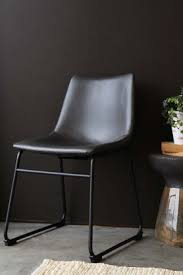 furniture industrial style. Parker Faux Leather Dining Chair - Charcoal Grey Furniture Industrial Style T