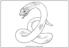 Small Picture Snake Colouring Pages