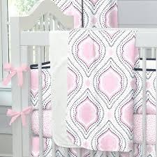 moroccan crib bedding pink and navy damask baby decor