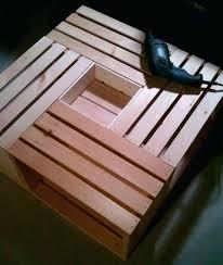 vintage wine crate coffee table plans