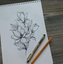 магнолия Art Nature Flowers Butterflies идеи для татуировок