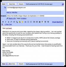 Template For Emailing Resume Lcysne Com