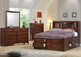 Queen Storage Bed with Bookcase Headboard | Overstock Bed Frame | Captain  Full Size Bed