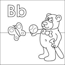 Small Picture Letter B Coloring Page Letter B Alphabet Coloring Pages For Kids