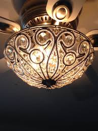 most house inspirations because of com crystal bead candelabra antique white ceiling fan light