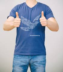 Dove Design T Shirts Mens Peace Dove T Shirt